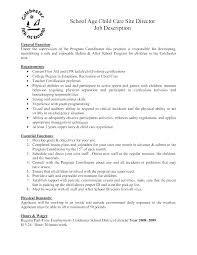 Daycare Assistant Resume Objective Worker Childcare Spacesheep Co
