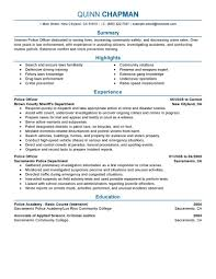 Law Enforcement Resume Sample Gallery Creawizard Com