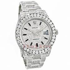 rolex datejust mens custom diamond watch 25 20ct iced out rolex rolex datejust mens custom diamond watch 25 20ct iced out