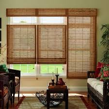 bamboo window blinds. Horizontal Natural Woven Roman Shade Bamboo Window Blinds