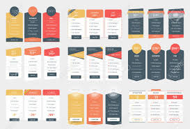 Pricing Table Templates Collection Of Coloful Pricing Table Design Templates For Websites