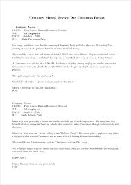 Examples Of Memos To Staff Sample Memo For Holiday Templates Free Example Format