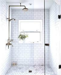 beveled subway tile shower white subway tile bathroom delta dryden towel bar installation