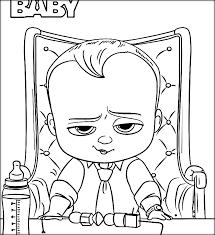 Boss Baby Coloring Sheets Color Zini