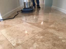 clean travertine flooring