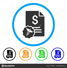 Medical Invoice Rounded Icon — Stock Vector © Ahasoft #166652670