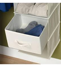 hanging closet shelves canvas drawers for sweater organizer set of 2 in