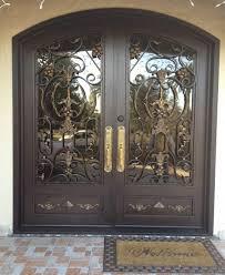 Door Handle. wrought iron door handle: Wrought Iron Exterior Door ...
