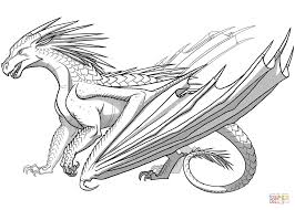 New Dragon Colouring Pictures Icewing From Wings Of Fire Coloring