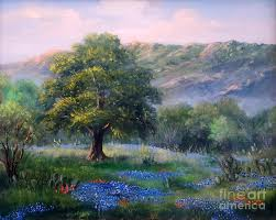 tree painting texas hill country by r masters
