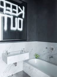 bathroom black and white bathroom tiles mounted toilet big wall mirror delightful paint colors stained