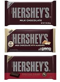 hershey almond candy bars. Fine Almond Hersheys Giant Chocolate Bar Bundle  One Each Of Milk Bars  7Ounce And Hershey Almond Candy O