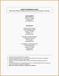 Example Reference Page For Resume Free Download