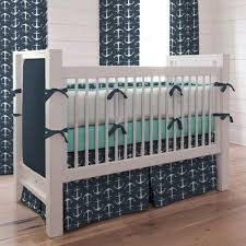 navy anchors crib bedding