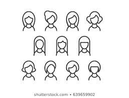 女性アイコンのイラスト素材画像ベクター画像 Shutterstock