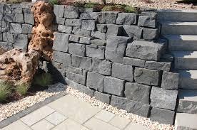 Garten Terrasse Au Engestaltung Mauer Trockenmauer Granit Naturstein Mauer Erstellen Gartendesign