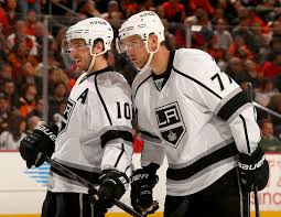 flyers kings richards mike richards and jeff carter photos photos los angeles kings v