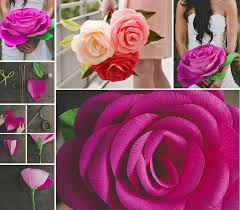 Diy Giant Paper Rose Flower Diy Giant Paper Flowers Tutorial Pictures Photos And