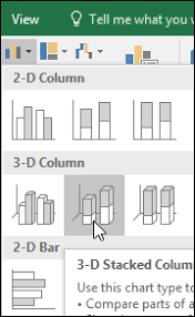 Insert 3d Clustered Column Chart Excel Present Your Data In A Column Chart Office Support
