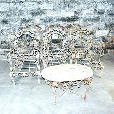 outdoor iron chairs for vintage wrought patio furniture set refinishing metal cast garden seats