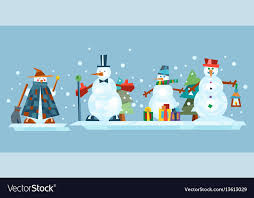 Holidays Snowman Winter Holidays Snowman Cheerful Character In Cold