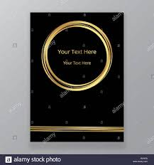Art Deco And Art Nuvo Style Vertical Page Template Golden