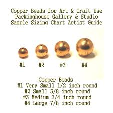 Bead Millimeter Size Chart 8 Mm Copper Bead 5 16 Inch Small Hole Copper Round Bead Super Small Size Can Be Used By Glass Artists Enamel Artist And Metal Smiths Torch