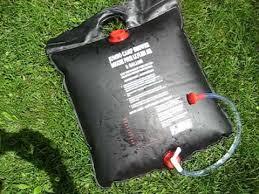solar camp shower bag demonstration review
