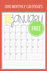 calendar 2018 free printable time is flying and the new year is coming fast so get ready