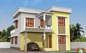 two floor kerala style house plan with 3 bedrooms kerala homedesign