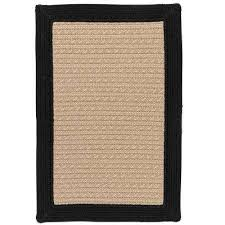 beverly black 6 ft x 9 ft braided indoor outdoor area rug