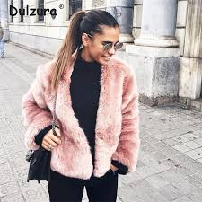 2019 ins faux fur coat women 2018 autumn winter jackets coats thicken warm overcoat outerwear chic girls fake fur jacket streetwear from pingparty