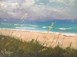 seascape painting daily painting small oil painting beach memories 11x14 oil sold