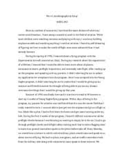 wrtg audience analysis memo to christopher bloss date  3 pages wrtg 393 wa 1 autobiographical essay