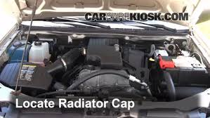 coolant flush how to chevrolet colorado 2004 2012 2007 remove the radiator cap before draining