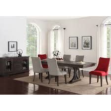 monte carlo dining set dining table 4 side chairs red 80784296