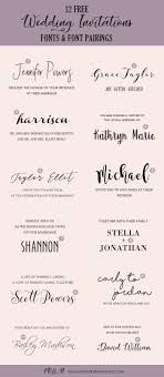 Wedding Invitation Downloads Wedding Invitation Font Pairing Guide With Free Killer Fonts