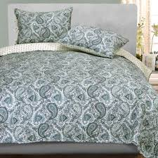 132 best Bedding images on Pinterest | Architecture, Bed room and ... & The cotton Moroccan Paisley Reversible Quilt Set includes a bed quilt and  sham(s). The vermicelli-quilted, reversible quilt has a printed paisley  motif. Adamdwight.com