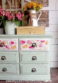 floral decoupage furniture. Paint Wood Furniture Floral Decoupage O