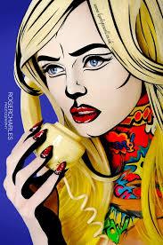 pop art by brand ambador karla powell photographer roger charles photography make up hair nails karla powell mua body painting deborah love