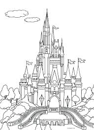 disney castle coloring page free printable castle coloring pages page castles pictures