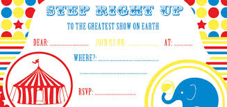 Circus Theme Invitation Free Party Invitations By Ruby And The Rabbit