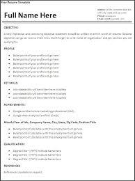 Resume Templates Microsoft Word – Xpopblog.com