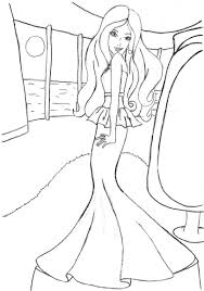 Barbie Coloring Fashion Fairytale Best Image Coloring Pages Online