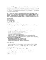 Effective To Tax Attorney Resume In Word The Best Sample Resume