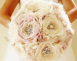 wedding bouquets etsy