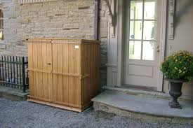 Outdoor Storage Cabinets With Doors Lawn Garden Simple Outdoor Trash Can Storage Cabinet Plans