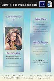 Funeral Templates Free Interesting Funeral Bookmark Template 48 Free PSD AI Vector EPS Format