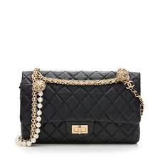 Chanel Aged Calfskin Reissue 225 Shoulder Bag W/ Pearl And Mirror  Accessories Borrow Or Steal