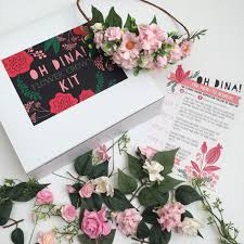 Paper Flower Kit Blush Diy Flower Crown Kit